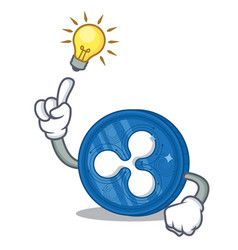 Have an idea ripple coin character cartoon vector