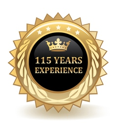 Hundred And Fifteen Years Experience Badge vector