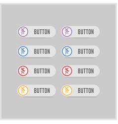 Hurdling icon vector