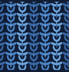 Indigo blue abstract organic tribal stripes vector