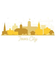 Iowa city skyline golden silhouette vector