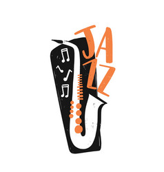 jazz festival hand drawn vector image