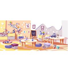 Kids nursery or kindergarten room interior vector