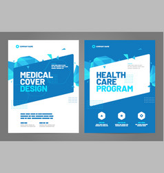 Layout template brochure background vector