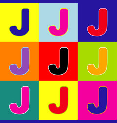letter j sign design template element pop vector image