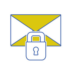 letter text message with padlock security vector image