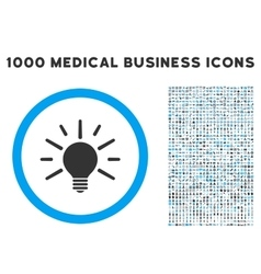 Light Bulb Icon with 1000 Medical Business vector image