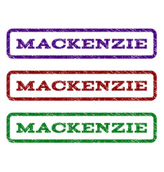 mackenzie watermark stamp vector image