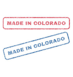 made in colorado textile stamps vector image