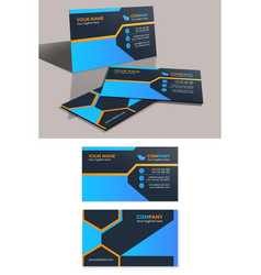Modern corporate business card template vector