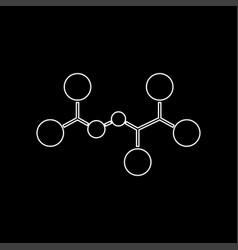 molecule white color icon vector image