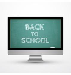 Monitor icon Chalkboard concept vector image