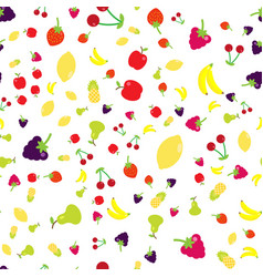 multicolored fruits in the style of flat in a vector image