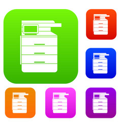 multipurpose device fax copier and scanner set vector image