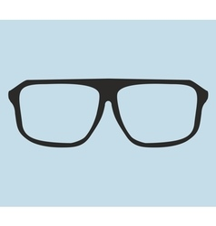 Nerd glasses on blue background vector image