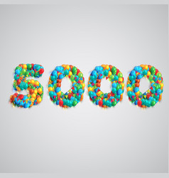 Number made by colorful balloons vector