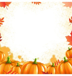 Orange Pumpkins Frame vector image