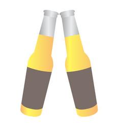 pair of beer bottles vector image