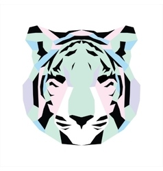 Pastel low poly tiger vector