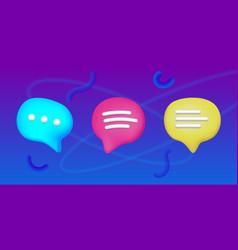 Plasticine art sms icon set speech bubble vector