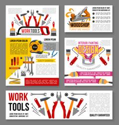 Posters of home repair handyman work tools vector