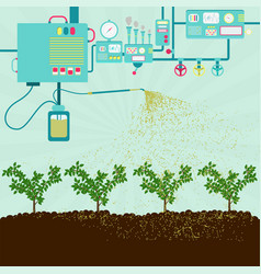 Production pesticides for agriculture vector