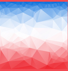 Red and blue poly abstract background vector