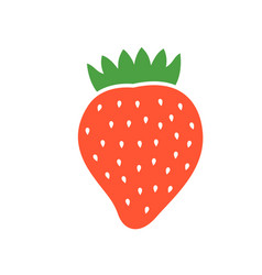 Red berry strawberry vector