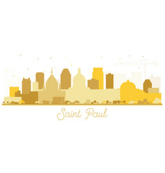 Saint paul minnesota city skyline silhouette with vector