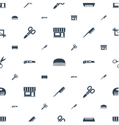 Scissors icons pattern seamless white background vector