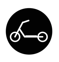 scooter children icon vector image