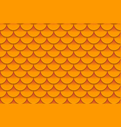 Seamless pattern of colorful orange fish scales vector