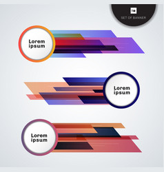 set banner web geometric circle and line on vector image