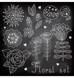 Set of floral elements isolated for your design vector