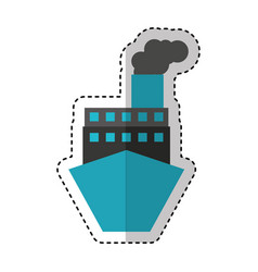 ship boat delivery service vector image