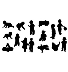 Silhouettes - baby vector