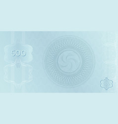 silver banknote 500 template with guilloche vector image