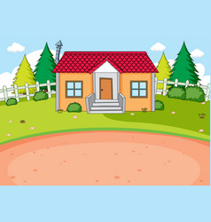 Simple house design background vector