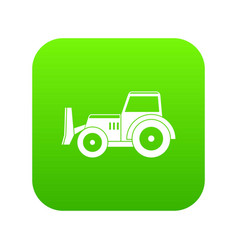 Skid steer loader icon digital green vector
