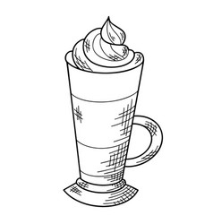 soft warm drink sketch hand drawn christmas drink vector image