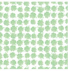 st patricks clover seamless pattern green clover vector image