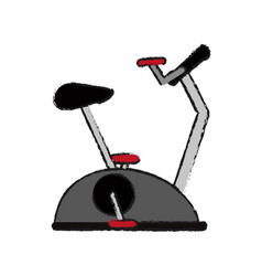 Stationary bike spinning fitness related icon vector