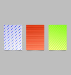 Stripe pattern page template set - abstract vector