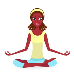 summer yoga pose vector image