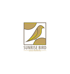 Sunrise bird vector