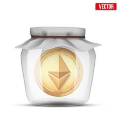 Symbol of save digital cryptocurrency money vector