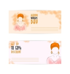 Template two side flyer woman in a turban vector