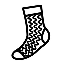 textile sock icon simple style vector image