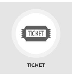 Ticket flat icon vector image