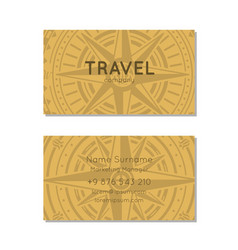 Travel agency business card layout vector